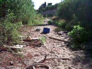 Les rivières de Tordères sous surveillance dans A retenir d-chets-dans-le-lit-300x225