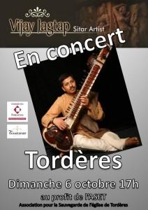 Un trio de musique indienne venu spécialement de Londres à Tordères! dans A retenir affiche-concert-sitar-212x300