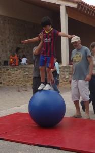 Olivier sur la boule